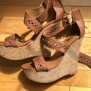 Charlotte Russe Shoes - NWOT Charolette Russe Size 7 Brown Wedges